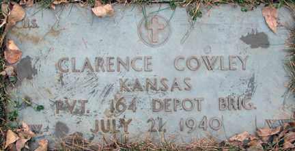 COWLEY, CLARENCE (MILITARY) - Minnehaha County, South Dakota   CLARENCE (MILITARY) COWLEY - South Dakota Gravestone Photos