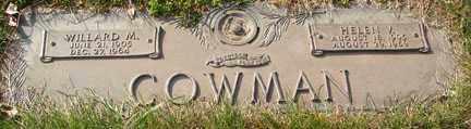 COWMAN, WILLARD M. - Minnehaha County, South Dakota | WILLARD M. COWMAN - South Dakota Gravestone Photos