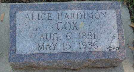 COX, ALICE - Minnehaha County, South Dakota | ALICE COX - South Dakota Gravestone Photos