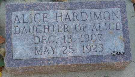 HARDIMON, ALICE - Minnehaha County, South Dakota   ALICE HARDIMON - South Dakota Gravestone Photos