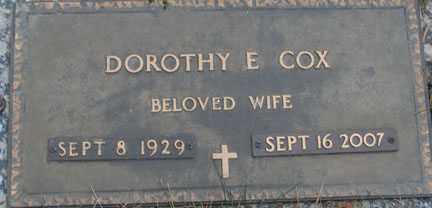 COX, DOROTHY E. - Minnehaha County, South Dakota | DOROTHY E. COX - South Dakota Gravestone Photos