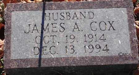 COX, JAMES A. - Minnehaha County, South Dakota   JAMES A. COX - South Dakota Gravestone Photos