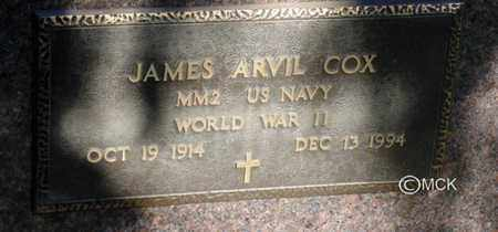 COX, JAMES ARVIL - Minnehaha County, South Dakota | JAMES ARVIL COX - South Dakota Gravestone Photos