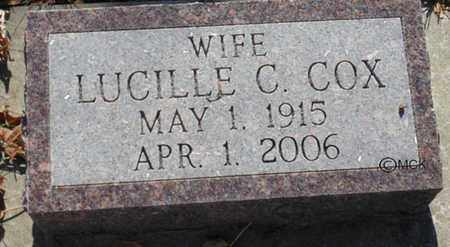COX, LUCILLE C. - Minnehaha County, South Dakota | LUCILLE C. COX - South Dakota Gravestone Photos