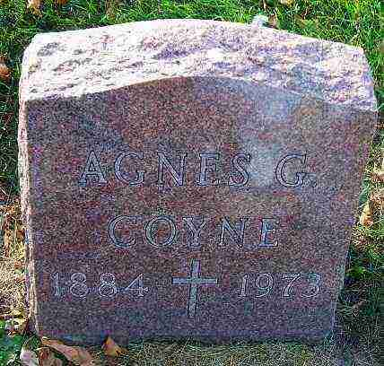 COYNE, AGNES G. - Minnehaha County, South Dakota | AGNES G. COYNE - South Dakota Gravestone Photos