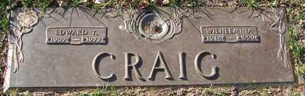 CRAIG, EDWARD T. - Minnehaha County, South Dakota | EDWARD T. CRAIG - South Dakota Gravestone Photos