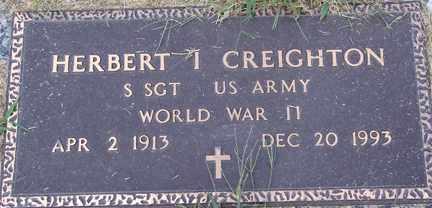 CREIGHTON, HERBERT I. (WWII) - Minnehaha County, South Dakota | HERBERT I. (WWII) CREIGHTON - South Dakota Gravestone Photos