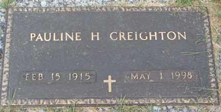 CREIGHTON, PAULINE H. - Minnehaha County, South Dakota | PAULINE H. CREIGHTON - South Dakota Gravestone Photos