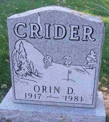 CRIDER, ORRIN D. - Minnehaha County, South Dakota | ORRIN D. CRIDER - South Dakota Gravestone Photos