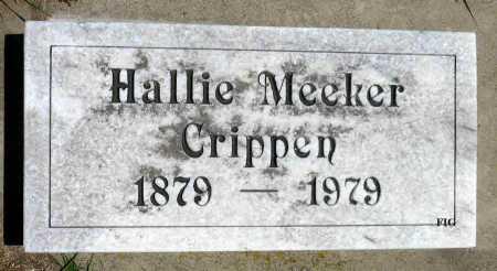 CRIPPEN, HALLIE - Minnehaha County, South Dakota | HALLIE CRIPPEN - South Dakota Gravestone Photos
