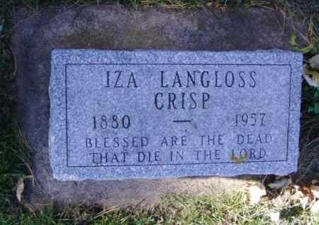 CRISP, IZA - Minnehaha County, South Dakota | IZA CRISP - South Dakota Gravestone Photos