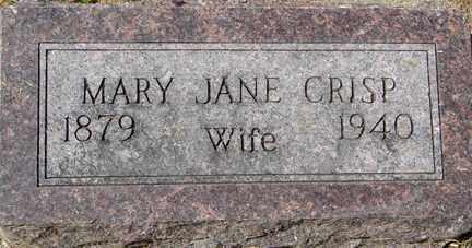 CRISP, MARY JANE - Minnehaha County, South Dakota | MARY JANE CRISP - South Dakota Gravestone Photos