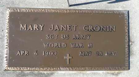 CRONIN, MARY JANET (WWII) - Minnehaha County, South Dakota | MARY JANET (WWII) CRONIN - South Dakota Gravestone Photos