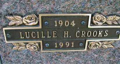 CROOKS, LUCILLE H. - Minnehaha County, South Dakota | LUCILLE H. CROOKS - South Dakota Gravestone Photos