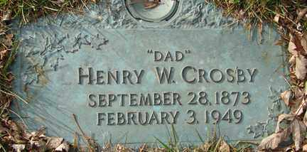 CROSBY, HENRY W. - Minnehaha County, South Dakota | HENRY W. CROSBY - South Dakota Gravestone Photos