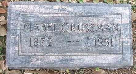 CROSSMAN, MABEL - Minnehaha County, South Dakota | MABEL CROSSMAN - South Dakota Gravestone Photos