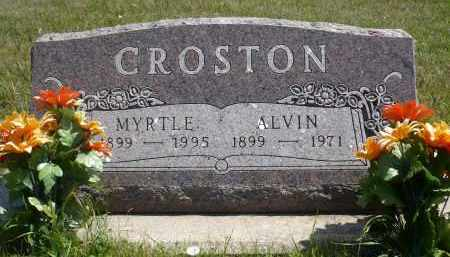 CROSTON, MYRTLE - Minnehaha County, South Dakota | MYRTLE CROSTON - South Dakota Gravestone Photos