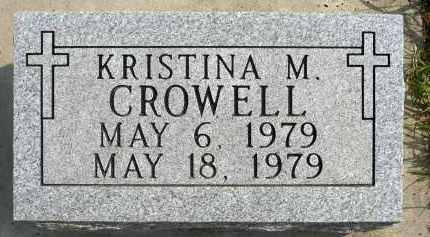 CROWELL, KRISTINA M. - Minnehaha County, South Dakota | KRISTINA M. CROWELL - South Dakota Gravestone Photos