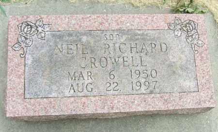 CROWELL, NEIL RICHARD - Minnehaha County, South Dakota | NEIL RICHARD CROWELL - South Dakota Gravestone Photos