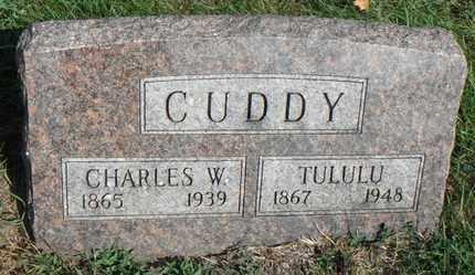 CUDDY, CHARLES W. - Minnehaha County, South Dakota   CHARLES W. CUDDY - South Dakota Gravestone Photos