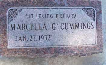 CUMMINGS, MARCELLA G. - Minnehaha County, South Dakota | MARCELLA G. CUMMINGS - South Dakota Gravestone Photos
