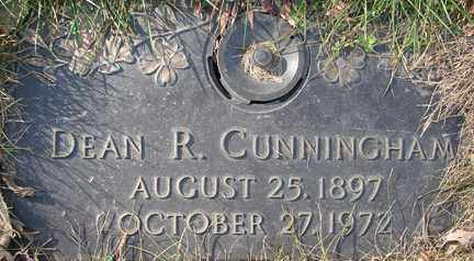 CUNNINGHAM, DEAN R. - Minnehaha County, South Dakota   DEAN R. CUNNINGHAM - South Dakota Gravestone Photos