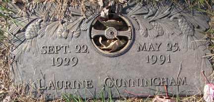 CUNNINGHAM, LAURINE - Minnehaha County, South Dakota | LAURINE CUNNINGHAM - South Dakota Gravestone Photos