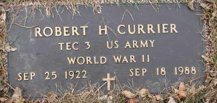 CURRIER, ROBERT H. (WWII) - Minnehaha County, South Dakota | ROBERT H. (WWII) CURRIER - South Dakota Gravestone Photos