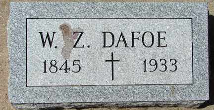 DAFOE, W.Z. - Minnehaha County, South Dakota | W.Z. DAFOE - South Dakota Gravestone Photos