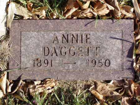 DAGGETT, ANNIE - Minnehaha County, South Dakota | ANNIE DAGGETT - South Dakota Gravestone Photos