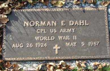 DAHL, NORMAN E. - Minnehaha County, South Dakota   NORMAN E. DAHL - South Dakota Gravestone Photos