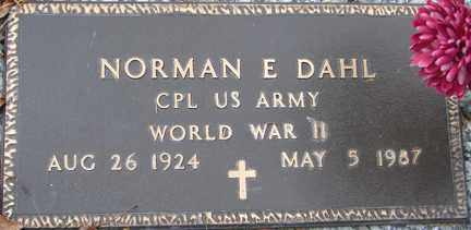 DAHL, NORMAN E. (WWII) - Minnehaha County, South Dakota | NORMAN E. (WWII) DAHL - South Dakota Gravestone Photos