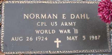 DAHL, NORMAN E. (WWII) - Minnehaha County, South Dakota | NORMAN E. (WWII) DAHL - South Dakota Gravestone Photos