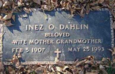 DAHLIN, INEZ O. - Minnehaha County, South Dakota | INEZ O. DAHLIN - South Dakota Gravestone Photos
