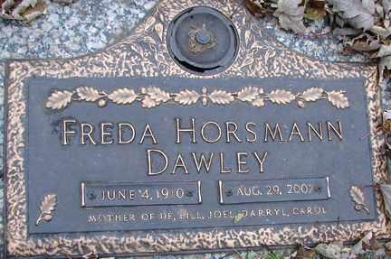 DAWLEY, FREDA - Minnehaha County, South Dakota | FREDA DAWLEY - South Dakota Gravestone Photos