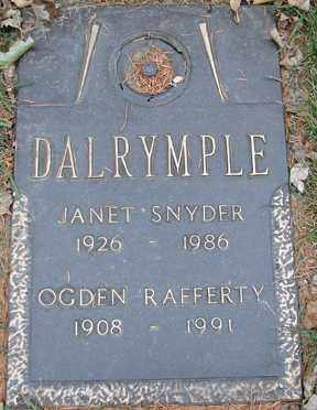 DALRYMPLE, OGDEN RAFFERTY - Minnehaha County, South Dakota | OGDEN RAFFERTY DALRYMPLE - South Dakota Gravestone Photos