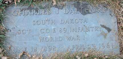 DALTHORP, CHARLES J. (WWI) - Minnehaha County, South Dakota | CHARLES J. (WWI) DALTHORP - South Dakota Gravestone Photos