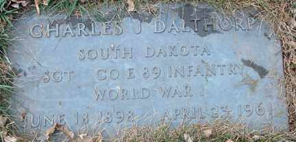 DALTHORP, CHARLES J. (WWI) - Minnehaha County, South Dakota | CHARLES J. (WWI) DALTHORP - South Dakota Gravestone Photos