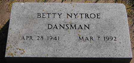 DANSMAN, BETTY - Minnehaha County, South Dakota | BETTY DANSMAN - South Dakota Gravestone Photos
