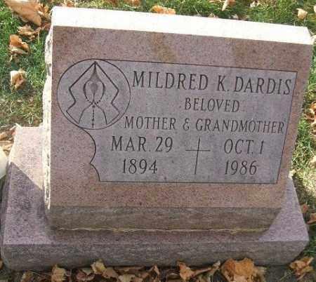 DARDIS, MILDRED K. - Minnehaha County, South Dakota | MILDRED K. DARDIS - South Dakota Gravestone Photos