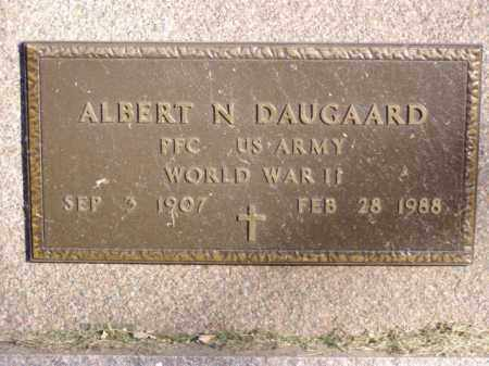 DAUGAARD, ALBERT N. - Minnehaha County, South Dakota   ALBERT N. DAUGAARD - South Dakota Gravestone Photos