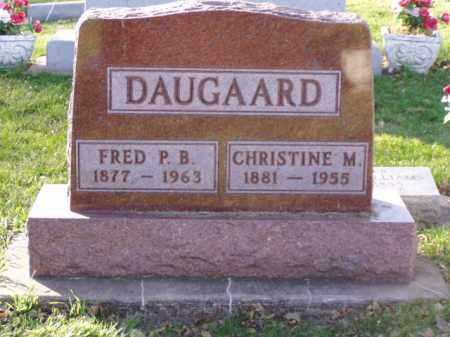 DAUGAARD, FRED P.B. - Minnehaha County, South Dakota | FRED P.B. DAUGAARD - South Dakota Gravestone Photos
