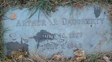 DAUGHERTY, ARTHUR J. - Minnehaha County, South Dakota | ARTHUR J. DAUGHERTY - South Dakota Gravestone Photos