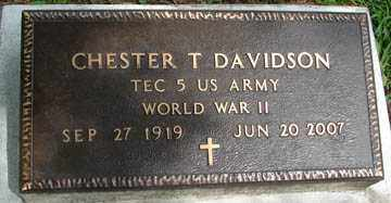 DAVIDSON, CHESTER T. - Minnehaha County, South Dakota | CHESTER T. DAVIDSON - South Dakota Gravestone Photos