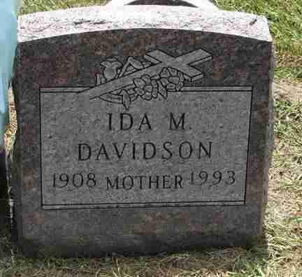 DAVIDSON, IDA M. - Minnehaha County, South Dakota | IDA M. DAVIDSON - South Dakota Gravestone Photos