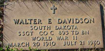 DAVIDSON, WALTER E. - Minnehaha County, South Dakota | WALTER E. DAVIDSON - South Dakota Gravestone Photos