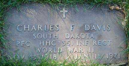DAVIS, CHARLES F. - Minnehaha County, South Dakota | CHARLES F. DAVIS - South Dakota Gravestone Photos
