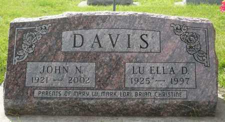 DAVIS, LU ELLA D. - Minnehaha County, South Dakota   LU ELLA D. DAVIS - South Dakota Gravestone Photos