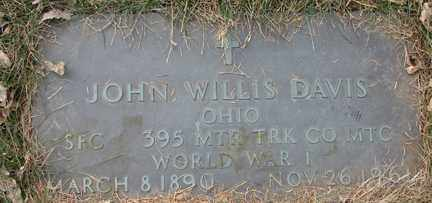 DAVIS, JOHN WILLIS (WWI) - Minnehaha County, South Dakota | JOHN WILLIS (WWI) DAVIS - South Dakota Gravestone Photos