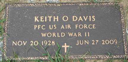 DAVIS, KEITH O. (WWII) - Minnehaha County, South Dakota   KEITH O. (WWII) DAVIS - South Dakota Gravestone Photos